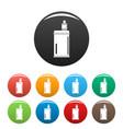 vape mod icons set color vector image vector image