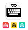 Wireless keyboard icon vector image