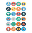 Flat Medical and Health Icons 1 vector image