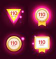 anniversary 110 icons set vector image