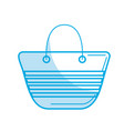 silhouette fashion purse to be in the beach vector image