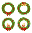 collection of holly wreath vector image