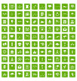 100 arrow icons set grunge green vector image vector image