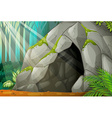 A cave vector image vector image