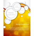 Abstract brochure with circles vector image vector image
