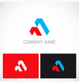 abstract shape triangle company logo vector image vector image
