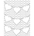 adult coloring bookpage a cute garland of hearts vector image
