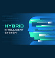 an of an hybrid intelligent system vector image vector image