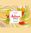 autumn sale background with colorful autumn leaves vector image vector image