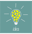 Big yellow bulb with small bulbs inside Idea vector image