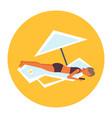 bikini woman sunbathing girl in swimsuit using vector image vector image