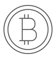 bitcoin thin line icon money and finance vector image vector image