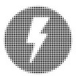 black dot electricity icon vector image
