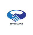 Blue handshake logo