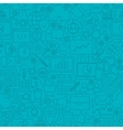 Blue SEO Line Tile Pattern vector image