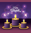 candles lits with flower mandala decoration vector image