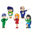 character of business cartoon vector image vector image