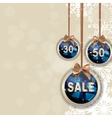 Christmas and New Year Sale Background Discount vector image vector image