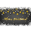 christmas background for holiday greeting card vector image vector image