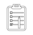 clipboard with checklist and pencil vector image