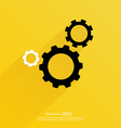 Cogwheel and development icon vector image vector image
