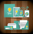 corporate identity business stationery template vector image