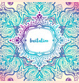delicate wedding invitations in ethnic indian vector image