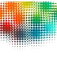 Disco background with halftone dots in retro style vector image vector image