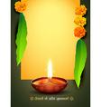 diwali greeting design vector image vector image