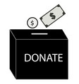 donate money icon on white background flat style vector image
