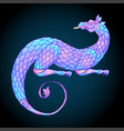 fantasy creature dragon medieval heraldic coat of vector image