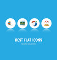 flat icon season set of sphere parasol surfing vector image vector image