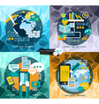 Flat Style UI UX to use for your business project vector image vector image