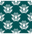 floral arabesque seamless background pattern vector image vector image