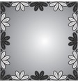 frame of floral ornaments vector image vector image