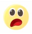 Frightened emoticon icon cartoon style vector image