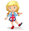 Girl in United Kingdom dress vector image vector image