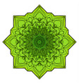 green eight-pointed mandala vector image