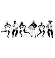 group of men and women dancing and playing latin vector image