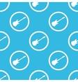 Guitar sign blue pattern vector image