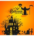 Halloween background Horror forest with woods vector image vector image