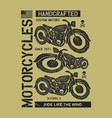 hand drawn vintage motorcycle vector image vector image