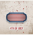 happy 4th of july banner in american flag style vector image vector image