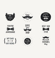 happy fathers day banners or badges stories vector image