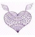 Heart with ornament vector image vector image