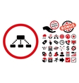 Hierarchy Flat Icon with Bonus vector image vector image