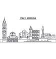 italy messina line skyline vector image