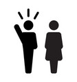 leader icon male and female public speaker vector image vector image