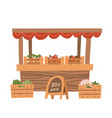 local vegetable stall fresh organic food products vector image