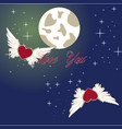 love you to the moon and back vector image vector image